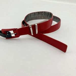 DKNY Red Thin Women's Leather Belt Large NEW